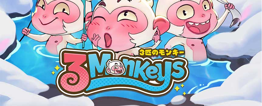 """Three Monkeys"" is a hilarious take on the well-known proverb in video slot game format that features Stacked Wild symbols and respins with increasing multiplier. The three monkey symbols will then transform into Stacked Wild symbol and increase the multiplier by 1, 2, 3, 4 or 5 times in the Respin Feature. So come to soak in this relaxing hot spring, and try to catch these three monkeys in the act to win a fortune!"