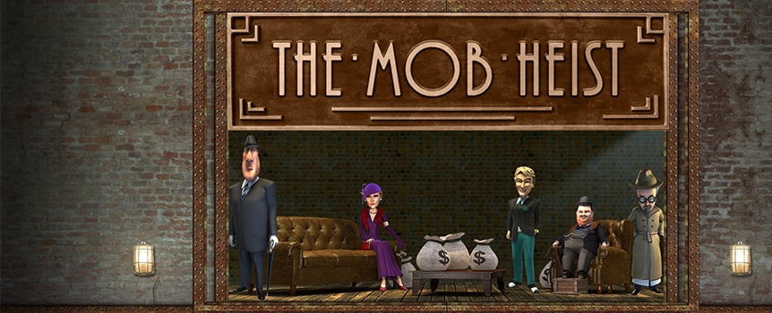 Join a mob in 1930's Chicago as they plan to pull off a great heist. Each of the five gangsters are critical to the success of the operation, and when they all show up on the reels, free spins abound. Five banks are on their radar, and they plan to rob them all. The game's Bank Job Bonus will have you planting dynamite at vault doors and cashing in on prizes up to 1,000X your total bet. You can also attempt to double every payout collected from a winning spin by playing the game's Double Up feature.