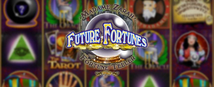 What does the future hold for you? Meet with the mysterious fortune teller, Mister Omar, in this psychic 5-reel slot game and look into the otherwise unforeseeable future. Get some insight into the days to come when you spin, and, who knows, Mister Omar's crystal ball might just show you a thing or two about your luck as well as the potential of big winnings. With enigmatic and mystical symbols ranging from gypsy caravans to palm reading and Nostradamus to the Freemasons, there's no predicting what the cards may show you. What's more, the can't-lose free spins keep the wonder going, so spin into the psychic spirit with this oracular spectacular slot.