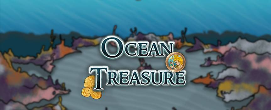 Discover the mysteries that lie thousands of leagues at the bottom of the sapphire blue ocean and take home your treasure in this 5-reel aquatic slot game. You'll be swimming alongside adorable expanding puffer fish, oyster shells that guard a special pearl, ominous sharks that patrol their territory and giant orange octopi. You may even have a few mermaid sightings while you're down there. Use your compass to navigate these virgin depths and keep spinning to locate a bounty of glistening gold artifacts once belonging to pirates and lost civilizations.
