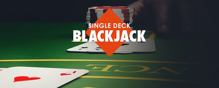 "Get back to basics with this popular single-deck version of the incredibly popular casino table game, blackjack. With buttons that appear on an as-needed basis, this blackjack is as minimalist as it gets. That's good news for serious blackjack players who want to focus their attention on the game – not distracting buttons. Elevate your game with this slick streamlined blackjack that's played the way it was meant to be played: with one deck. Simply throw down a bet between $1 and $300, hit ""Deal,"" and let the action begin."