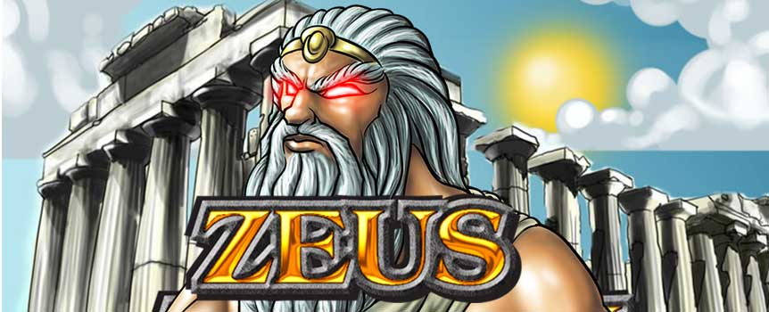 """Zeus"" offers you a journey back in time to an era that has served as the cradle of what is our modern civilisation. Among the symbols that you will surely come across while spinning the reels of the game are the beautiful woman, the Shield, the cup, the bust and playing card symbols with the values 9, 10, Jack, Queen, King and Ace. These can all reward you with different winnings, but the most valuable of the symbols from the main game is the beautiful woman."